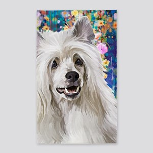 Chinese Crested Painting Area Rug