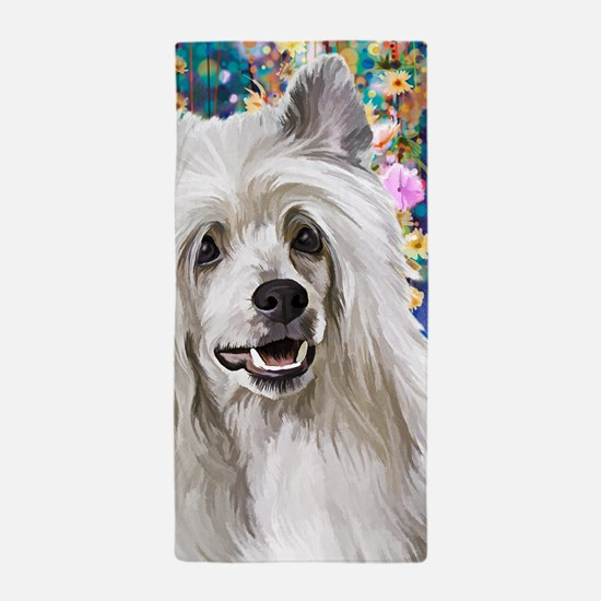 Chinese Crested Painting Beach Towel