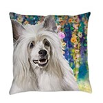 Chinese Crested Painting Everyday Pillow