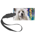 Chinese Crested Painting Luggage Tag