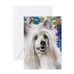 Chinese Crested Painting Greeting Cards
