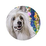 Chinese Crested Painting Button
