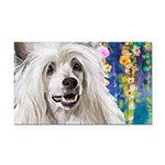 Chinese Crested Painting Rectangle Car Magnet