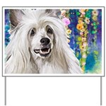 Chinese Crested Painting Yard Sign