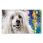 Chinese Crested Painting Sticker