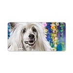 Chinese Crested Painting Aluminum License Plate