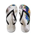 Chinese Crested Painting Flip Flops