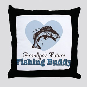 Grandpa's Future Fishing Buddy Fisherman Throw Pil
