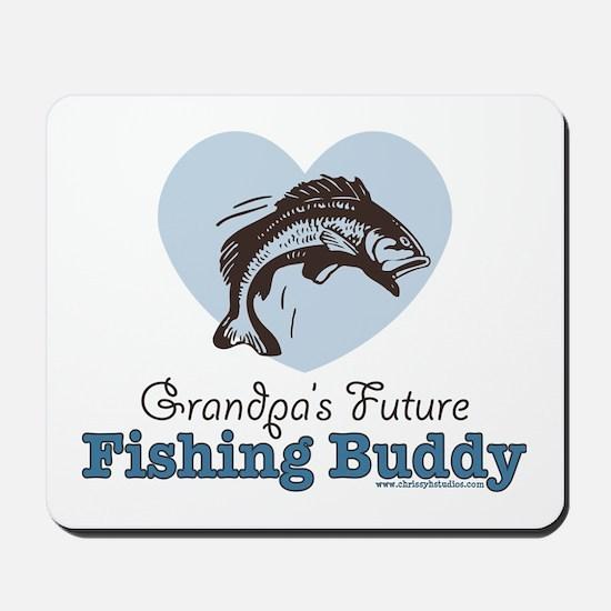 Grandpa's Future Fishing Buddy Fisherman Mousepad