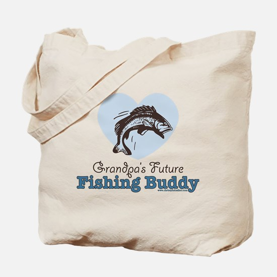 Grandpa's Future Fishing Buddy Fisherman Tote Bag