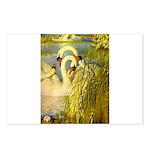 SWANS, Vintage art Print Postcards (Package of 8)