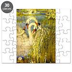 SWANS, Vintage art Print Puzzle