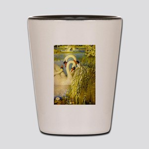 SWANS, Vintage art Print Shot Glass