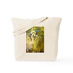 SWANS, Vintage art Print Tote Bag