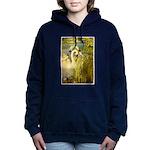 SWANS, Vintage art Print Women's Hooded Sweatshirt