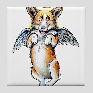 Corgi Angel Tile Coaster