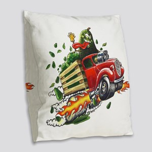 Avo Truckin Burlap Throw Pillow