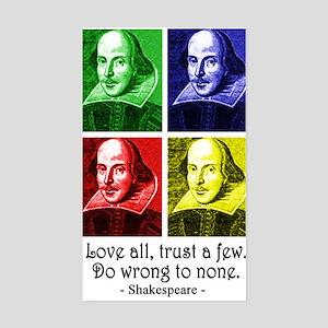 Pop Art Shakespeare Sticker (Rectangle)