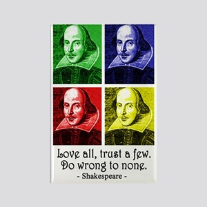 Pop Art Shakespeare Rectangle Magnet