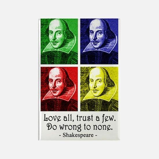 Pop Art Shakespeare Rectangle Magnet