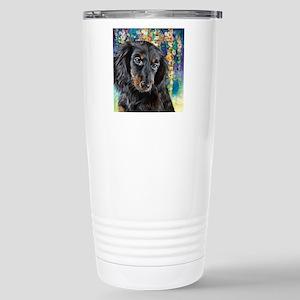 Dachshund Painting Travel Mug