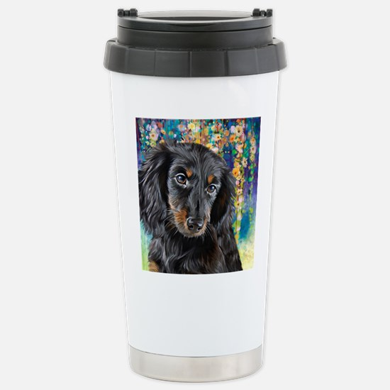 Dachshund Painting Travel Mug