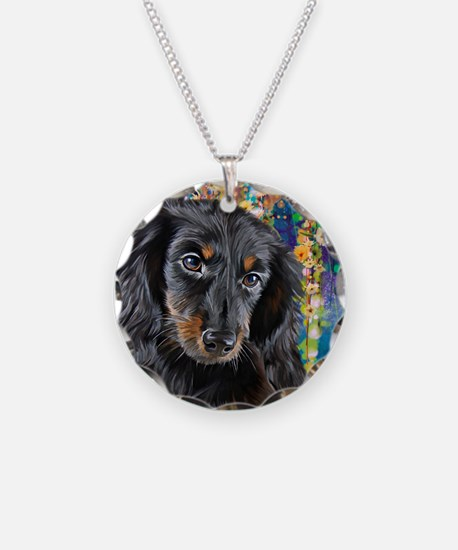 Dachshund Painting Necklace
