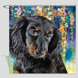 Dachshund Painting Shower Curtain