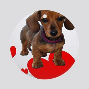 Love Dachshunds Round Ornament