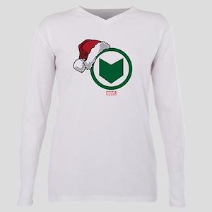 Hawkeye Santa Plus Size Long Sleeve Tee