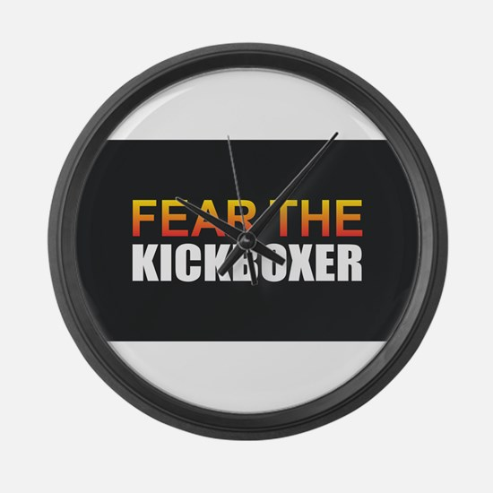 Fear the Kickboxer Large Wall Clock
