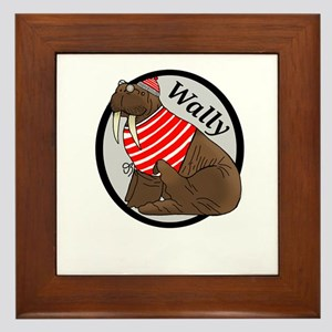 Wally Walrus Framed Tile