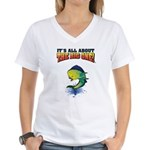 IAATBO! Women's V-Neck T-Shirt