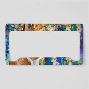Basenji Painting License Plate Holder