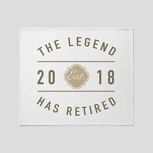 2018 Retired Legend Throw Blanket