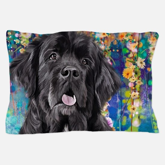 Newfoundland Painting Pillow Case