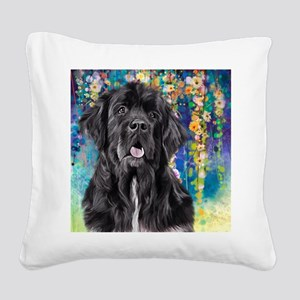 Newfoundland Painting Square Canvas Pillow