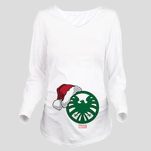 SHIELD Logo Santa Long Sleeve Maternity T-Shirt