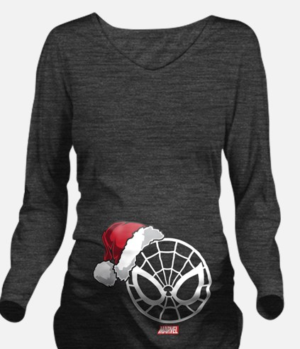 Spider-Man Santa Long Sleeve Maternity T-Shirt