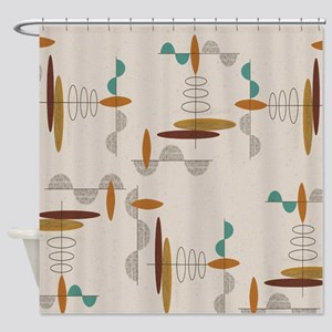 Ovals and Half Moons Shower Curtain