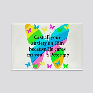 1 PETER 5:7 Rectangle Magnet