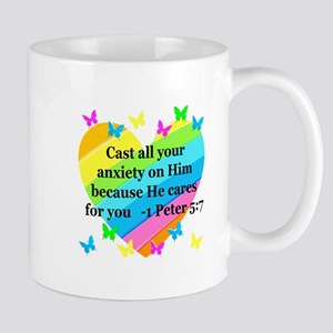 1 PETER 5:7 Mug