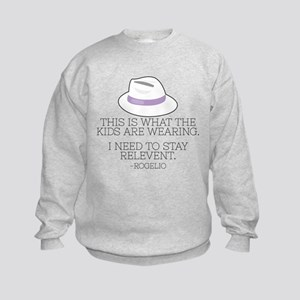 Lilac Fedora Kids Sweatshirt