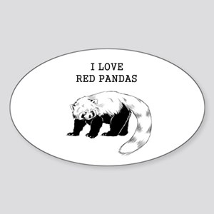I Love Red Pandas Sticker