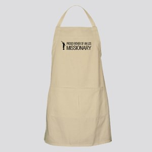 LDS: Proud Missionary Father (Black) Apron