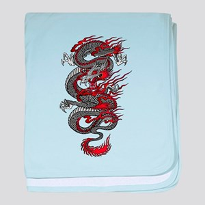 Asian Dragon baby blanket