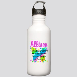 1 PETER 5:7 Stainless Water Bottle 1.0L