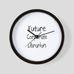 Future Corporate Librarian Wall Clock