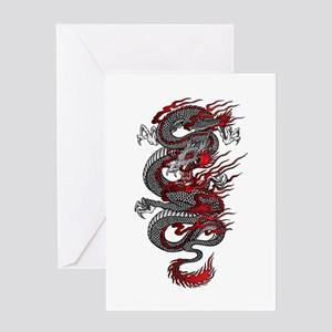 Asian Dragon Greeting Cards