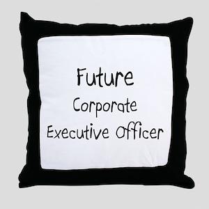 Future Corporate Executive Officer Throw Pillow